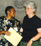 Barbara Hall and Fatima Dike